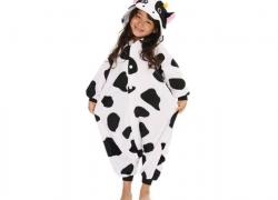 KIMU onesie koe (huispak, jumpsuit, pyjama). Diverse maten voor kids en volwassenen!